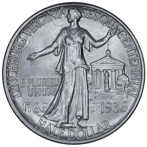 1936 Lynchburg, Virginia Silver Commemorative Half Dollar - Brilliant Uncirculated