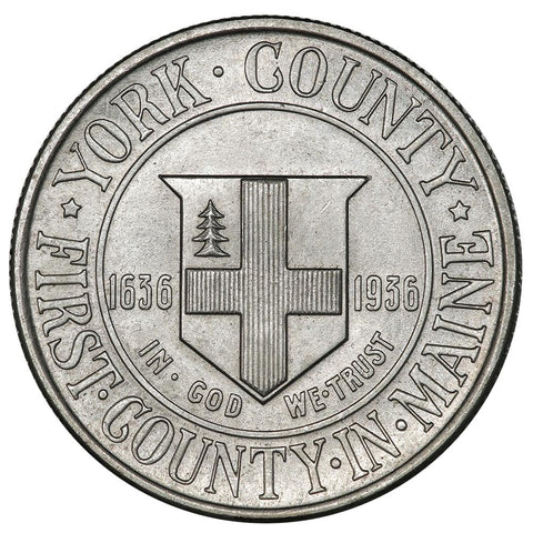 1936 York County Silver Commemorative Half Dollar - Brilliant Uncirculated