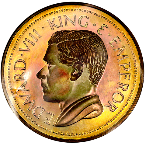 1936 Dated (1984) South Africa Crown Edward VIII Fantasy (Coincraft) FM-63 - Gem Proof