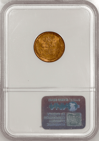 1936-D Lincoln Wheat Cent - NGC MS 66 RD - Gem Red