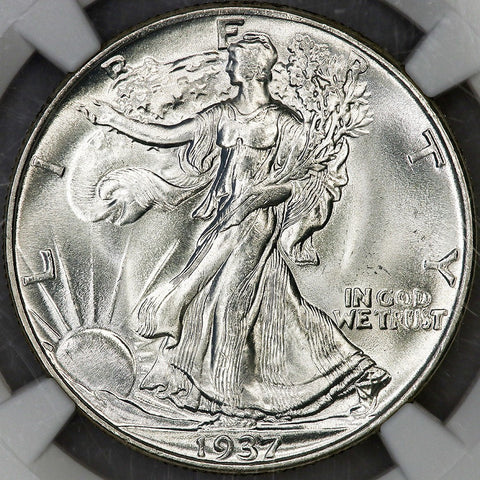 1937 Walking Liberty Half Dollar ~ NGC MS 65 ~ Gem Brilliant Uncirculated