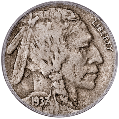 1937-D 3 Legs Buffalo Nickel - PCGS VF 25 OGH