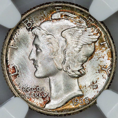 1938 Mercury Dime - NGC MS 66 FB - Pretty Gem / Full Bands