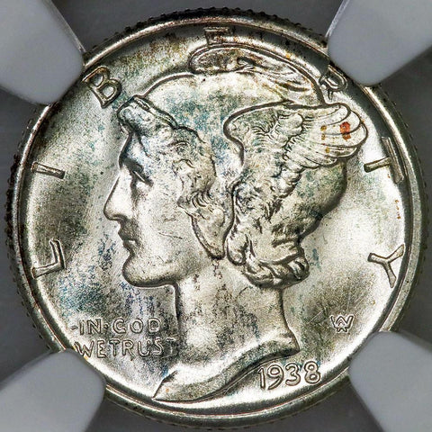 1938-D Mercury Dime - NGC MS 66 FB