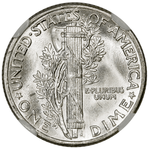 1939 Mercury Dime - NGC MS 65