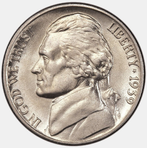 The Jefferson Nickels of 1939 (P-D-S) - PQ Brilliant Uncirculated