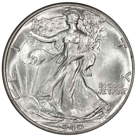 1940 Walking Liberty Half Dollar - NGC MS 65 - Gem Brilliant Uncirculated