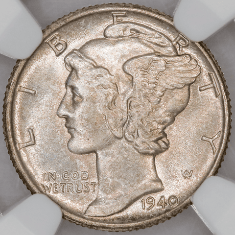 1940 Mercury Dime - NGC MS 66 FB