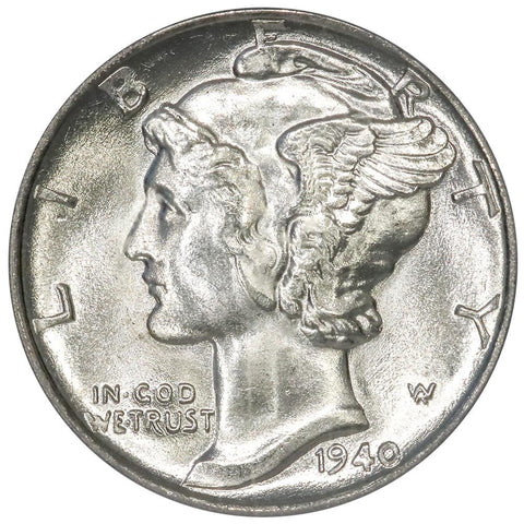 1940 Mercury Dime - PCGS MS 66 - Gem Brilliant Uncirculated