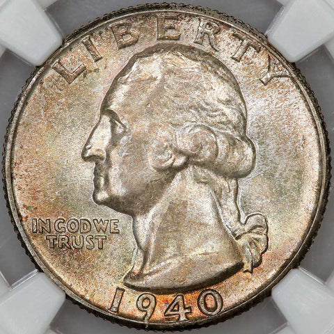 1940 Washington Quarter - NGC MS 65