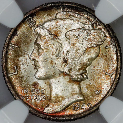 1940-D Mercury Dime - NGC MS 66 FB