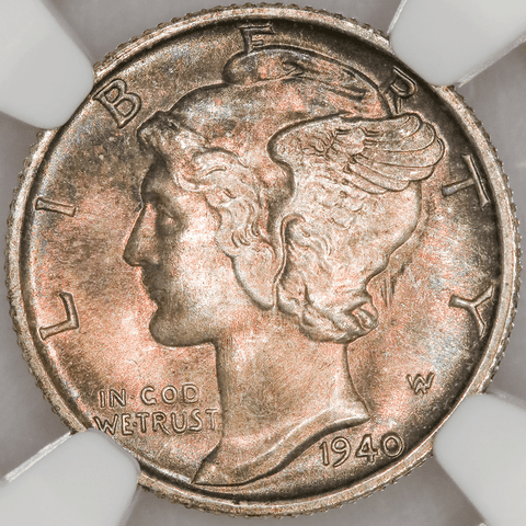 1940-S Mercury Dime - NGC MS 66 FB