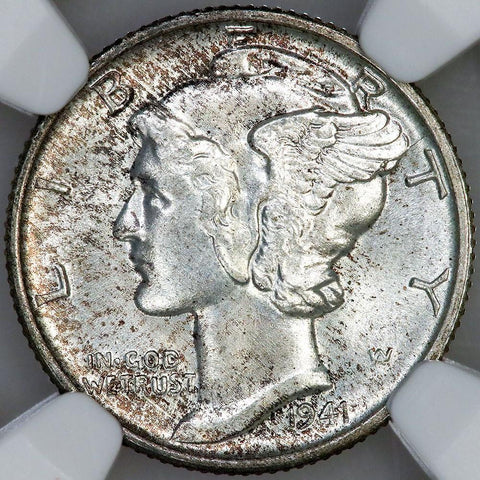 1941-S Mercury Dime - NGC MS 66 FB