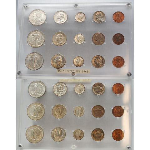 "1941 P-D-S U.S. ""Mint Set"" w/Plastic Display Case - Beautiful, But Built"