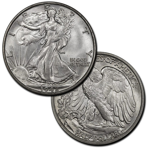 Walking Liberty Half Dollars By Date (1933-S to 1947-D) - Brilliant Uncirculated