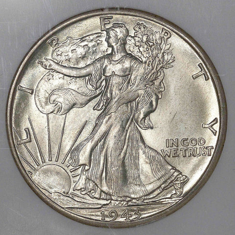 1943-D Walking Liberty Half Dollar ~ NGC MS 66 ~ Nevada Silver Collection