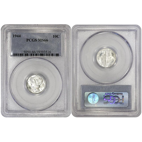 1944 Mercury Dime - PCGS MS 66 - Gem Uncirculated