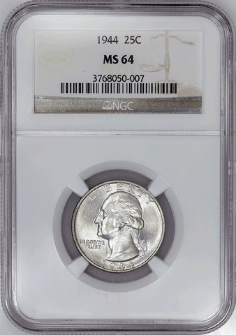 1944 Washington Quarter - NGC MS 64