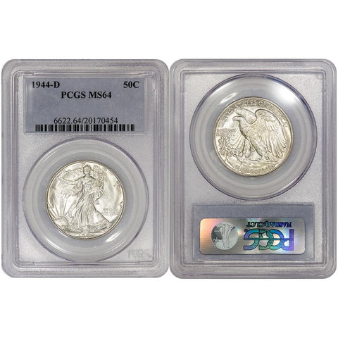 1944-D Walking Liberty Half Dollar - PCGS MS 64 - Choice Uncirculated