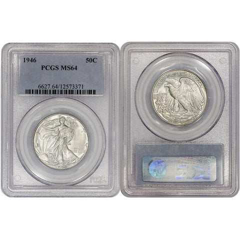 1946 Walking Liberty Half Dollar - PCGS MS 64 - Choice Uncirculated