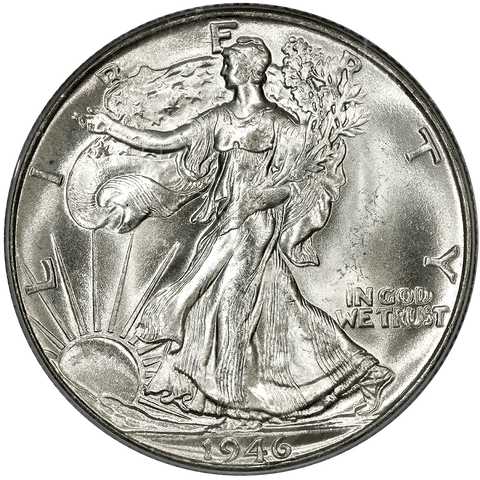 1946 Walking Liberty Half Dollar - PCGS MS 65 - Gem Brilliant Uncirculated