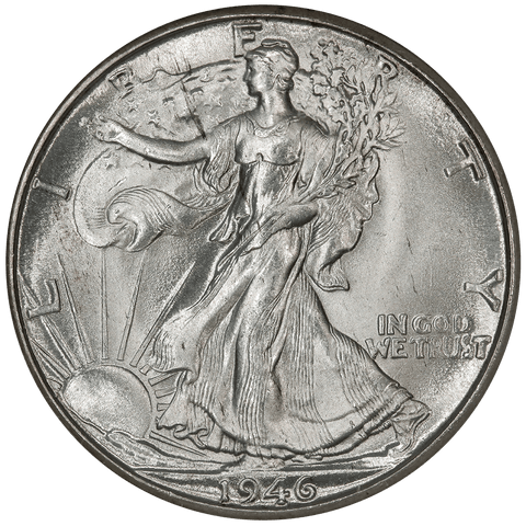 1946-D Walking Liberty Half Dollar - NGC MS 65 - Gem Brilliant Uncirculated