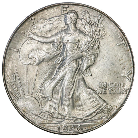 1946-D Walking Liberty Half Dollar - PCGS MS 65 - Gem Brilliant Uncirculated