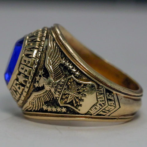 1947 U.S. Navy Tactical Air Command 10K Solid Gold Ring - Size 11