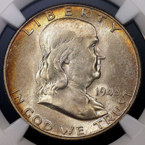 1948 Franklin Half Dollar - MS 65 FBL - Full Bell Lines / Registry Ready