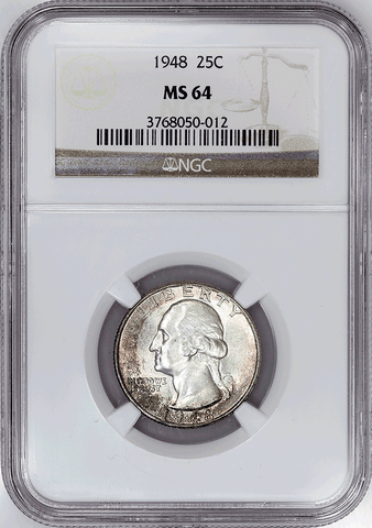 1948 Washington Quarter - NGC MS 64