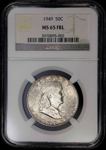 1949 Franklin Half Dollar - MS 65 FBL - Full Bell Lines / Registry Ready