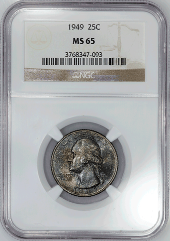 1949 Washington Quarter - NGC MS 65