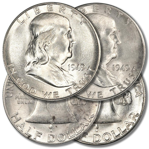 1949-S Franklin Halves - About Uncirculated/Brilliant Uncirculated - Super Special