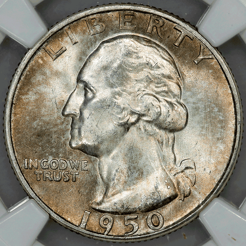 1950-S Washington Quarter - NGC MS 65 - Gem Brilliant Uncirculated