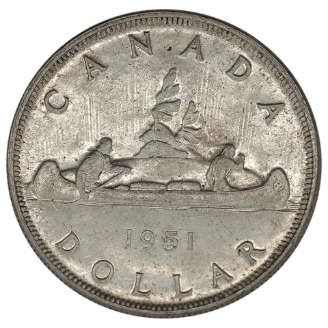 1951 Canada Silver Dollar KM.46 - About Uncirculated