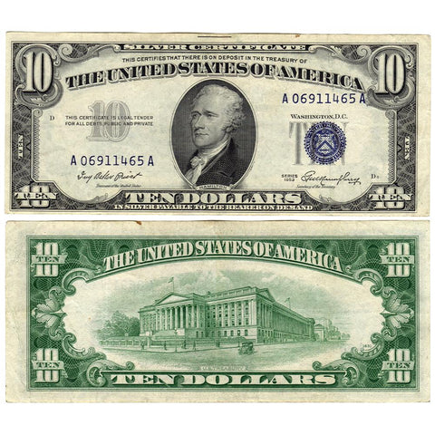 1953 $10 Silver Certificate Fr. 1706 - Extremely Fine
