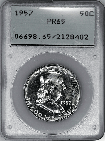 1957 Proof Franklin Half Dollar - PCGS PF 65 (Rattler)