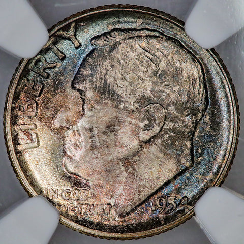 1954 Roosevelt Dime - NGC MS 65