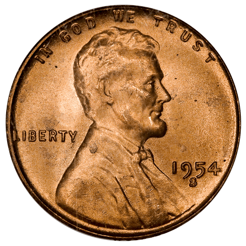 1954-S Lincoln Wheat Cent - NGC MS 66 RD - Gem Red