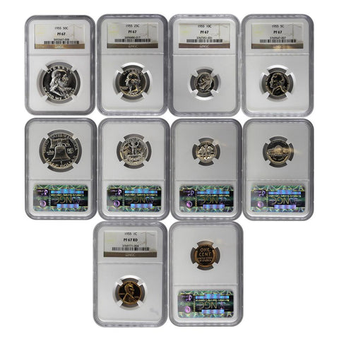 1955 Certified U.S. Proof Set - NGC PF67