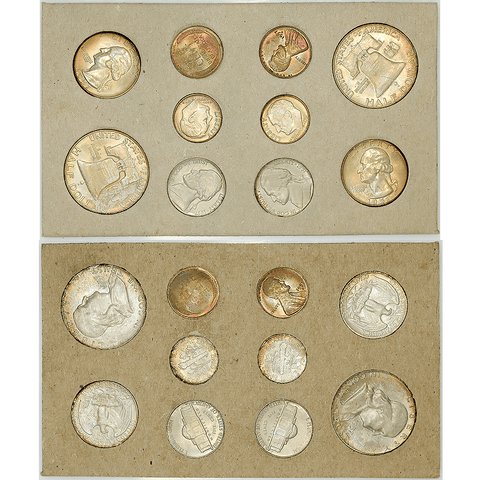 Original 1957 U.S. Mint Double Mint Set P & D - Gem Brilliant Uncirculated