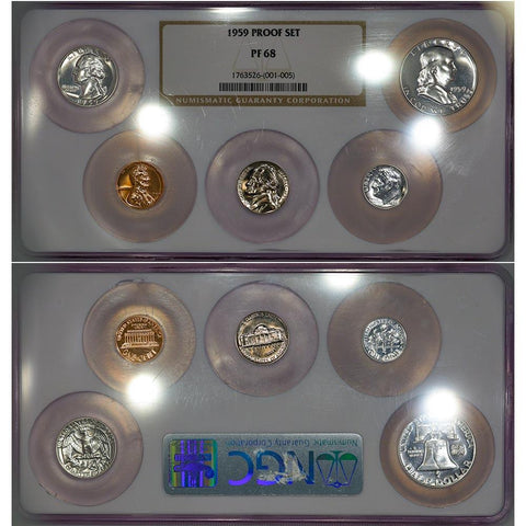 1959 U.S. Proof Set - NGC PF 68 - Superb Gem Proof