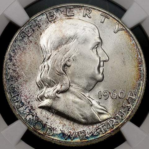 1960 Franklin Half Dollar - MS 65 FBL Full Bell Lines / Registry Ready - Pretty Coin