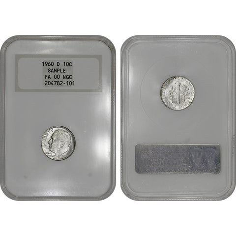 1960-D Roosevelt Dime in NGC Gen. 5 Sample Slab