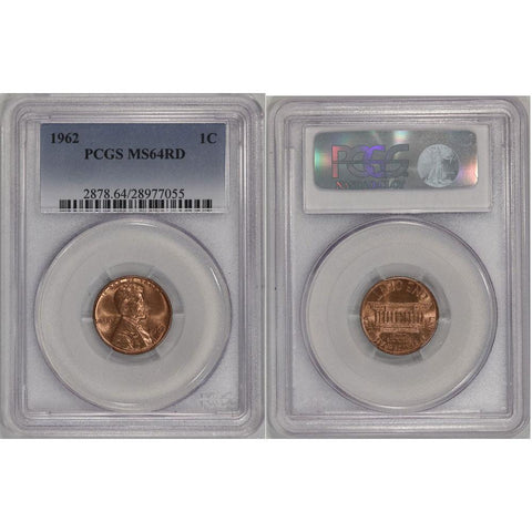 1962 Lincoln Cent - PCGS MS 64 DCAM RD
