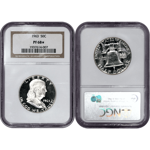 Proof 1963 Franklin Half Dollar ~ NGC PF 68 STAR