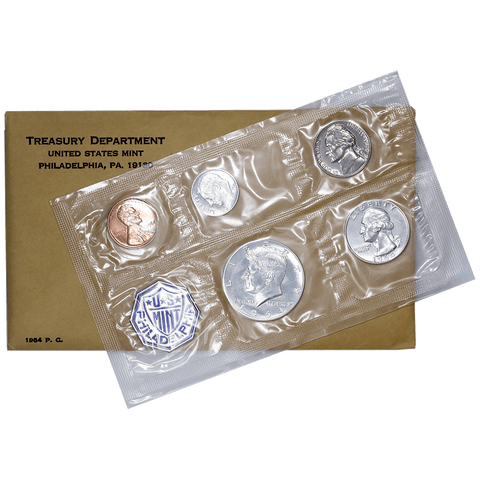 1964 Flat Pack Silver Proof Sets with Accented Hair Kennedy Half - Superb Gem Proof