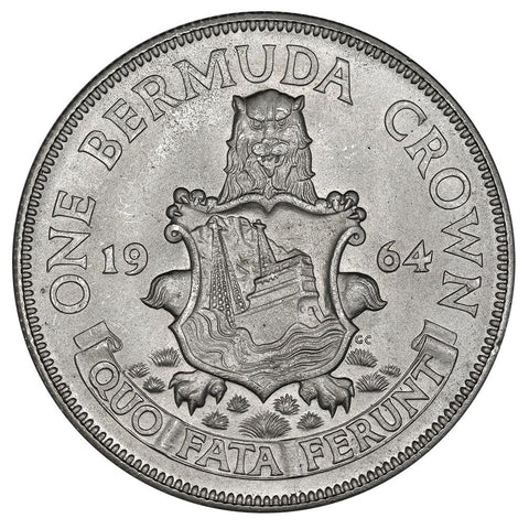 1964 Bermuda Silver Crown KM.14 - PQ Brilliant Uncirculated