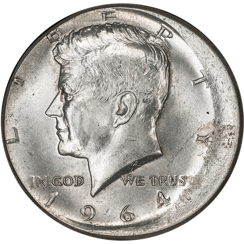 1964 90% Silver Kennedy Half - Struck 5-10% Off-Center - Premium Quality BU