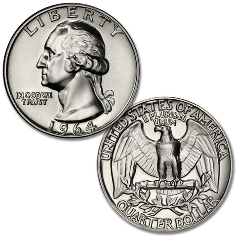 1964 Silver Proof Washington Quarters - Gem Proofs directly from Proof Sets